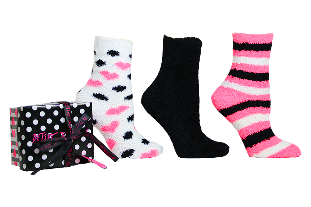 Ladies SZ 9-11 Mad About Plaid Sock Blue NEW BETSEY JOHNSON Casual Socks