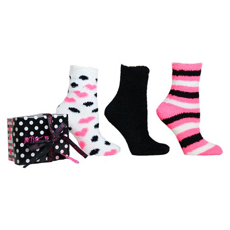Betsey Johnson 3pk Cozy Sock Gift Box