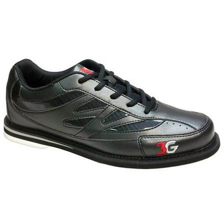 3G Cruze Black Unisex Bowling Shoes, Size 9.5
