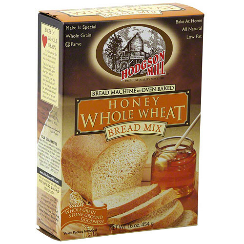 Hodgson Mill Honey Whole Wheat Bread Mix, 16 oz (Pack of 6)