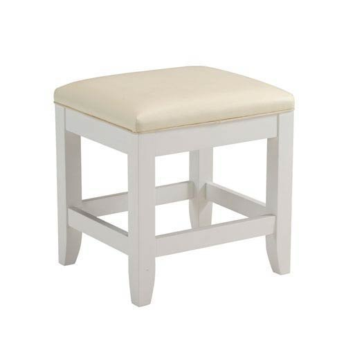 Home Styles 5530-28 Naples Vanity Bench, White Finish by Home Styles