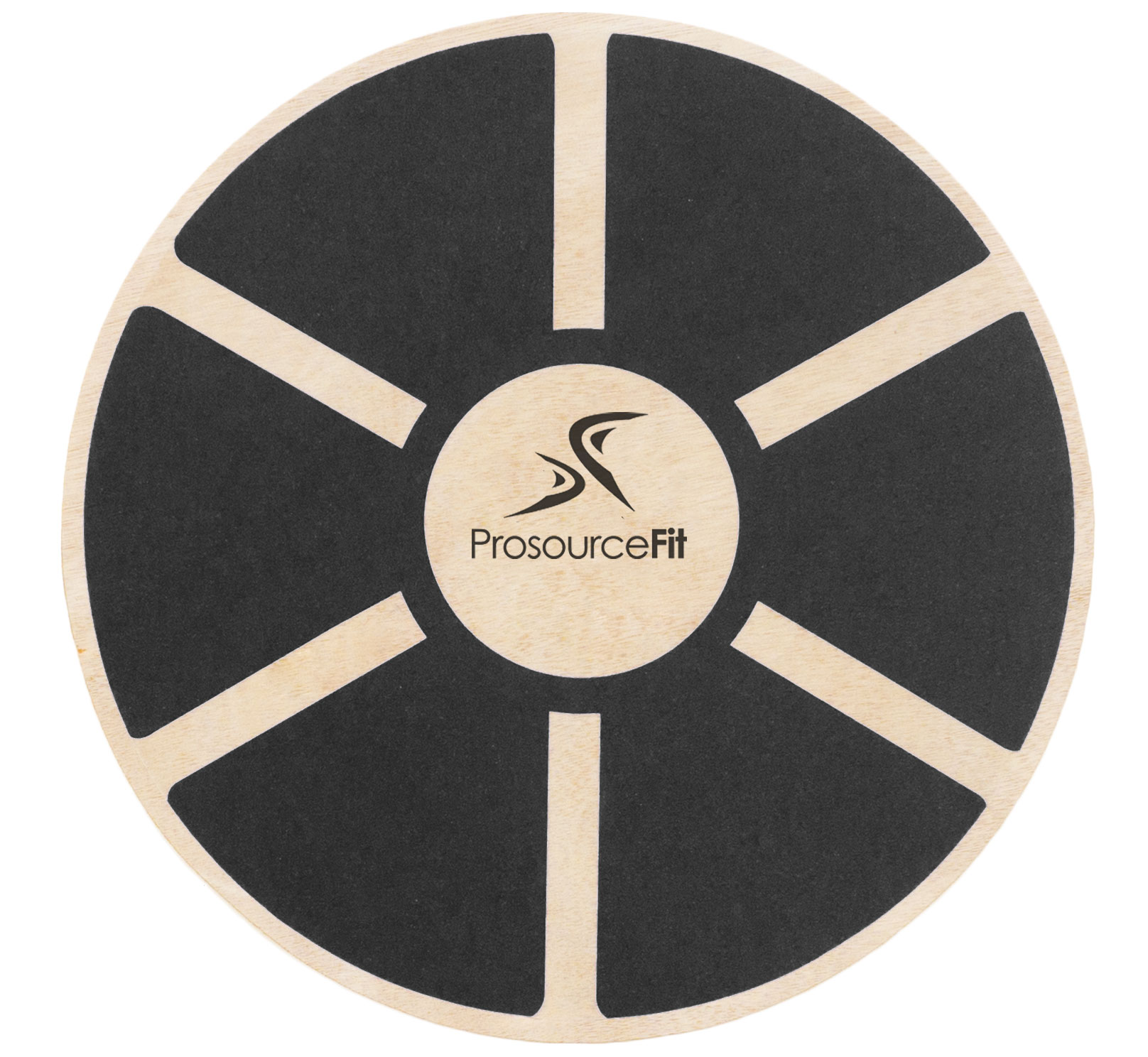ProsourceFit Wooden Balance Board Non-Slip Wobble Core Trainer 15.75in (40cm) Diameter with 360 Rotation for Stability Training, Full Body Exercise, Physical Therapy (4 colors Available )