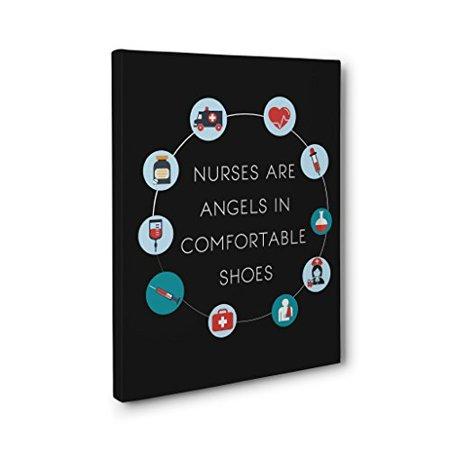 Nurse's Week Appreciation Gift - Nurse are Angels CANVAS Wall Art - Graduation Gift
