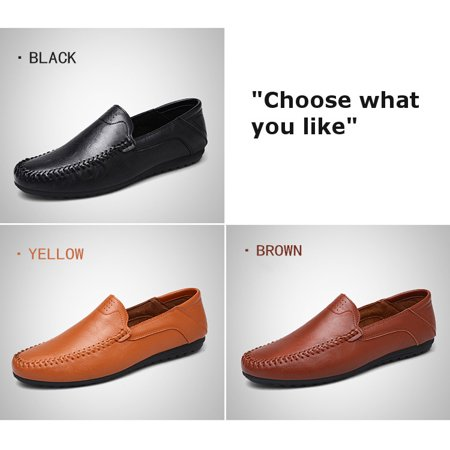 Fashion Men's Driving Moccasins Slip On Loafers Shoes Suede Leather Casual Boat Brown Suede Leather Loafer