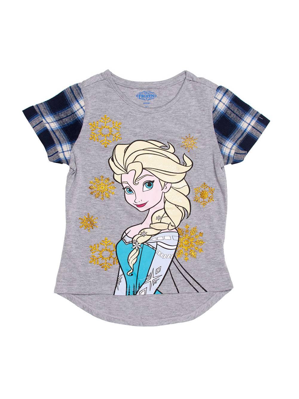Elsa Hi Low Top w/ Flannel Sleeves