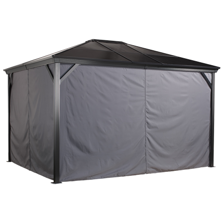 Sojag VERONA 10' x 10' Gazebo Polyester Privacy Curtains Kit, Available in Multiple Sizes ()
