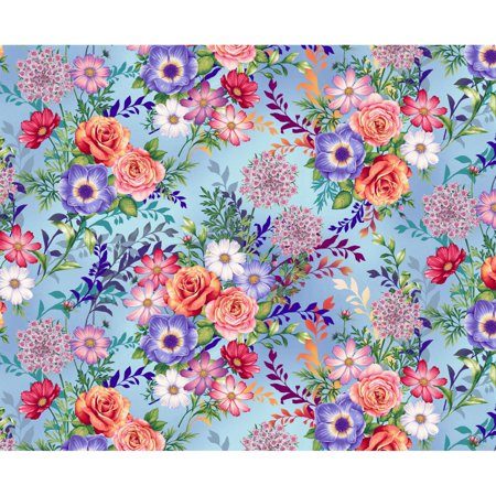 Botanica Beauty~Beautiful Mixed Flower Bouquets Cotton Fabric by Henry Glass