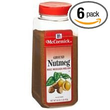 6 PACKS : Mccormick Ground Nutmeg 1 lb. container. by