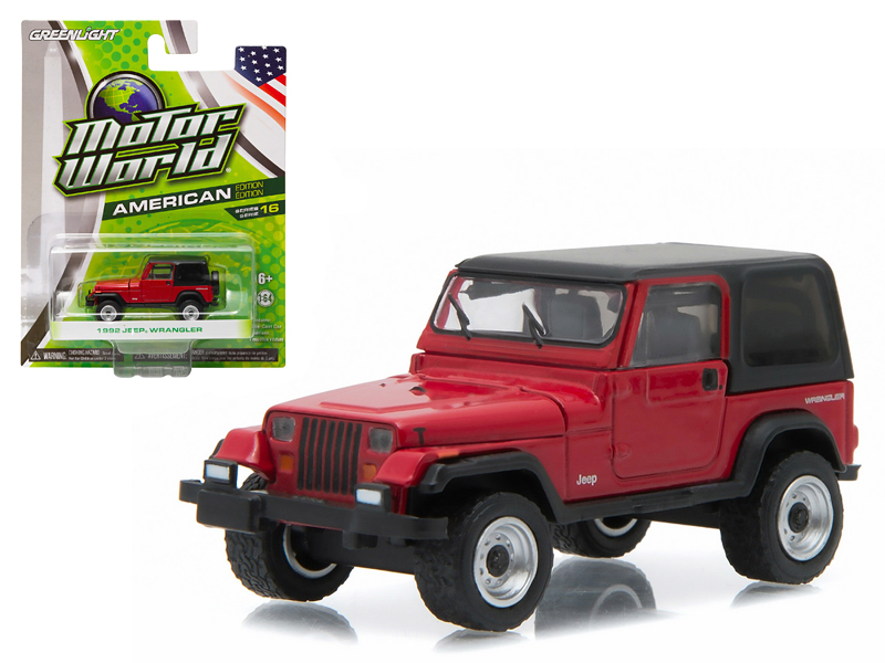1992 Jeep Wrangler Hard Top YJ Red 1 64 Diecast Model Car by Greenlight by GreenLight