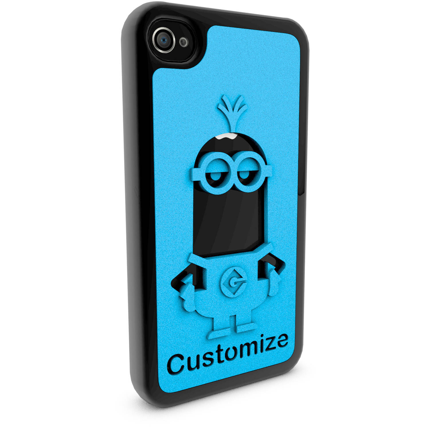 Apple iPhone 4 and 4S 3D Printed Custom Phone Case - Despicable Me - Kevin 2