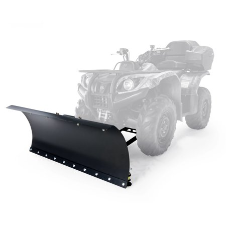 Black Boar ATV Snow Plow Kit with 9-Position Blade Angle, Adjusts to 30 Degrees to Each