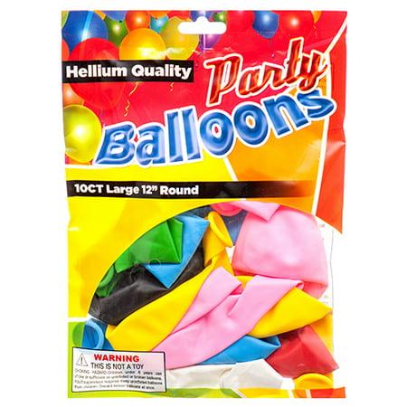 New 374441  Balloon Standard 12 10Ct Asst Clr (12-Pack) Party Set Cheap Wholesale Discount Bulk Party Supplies Party Set Candle Holder Pedestal - Party Supplies Cheap