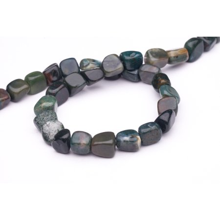 Round - Shaped Green Agate Beads Semi Precious Gemstones Size: 12x13mm Crystal Energy Stone Healing Power for Jewelry (Green Agate Stone)