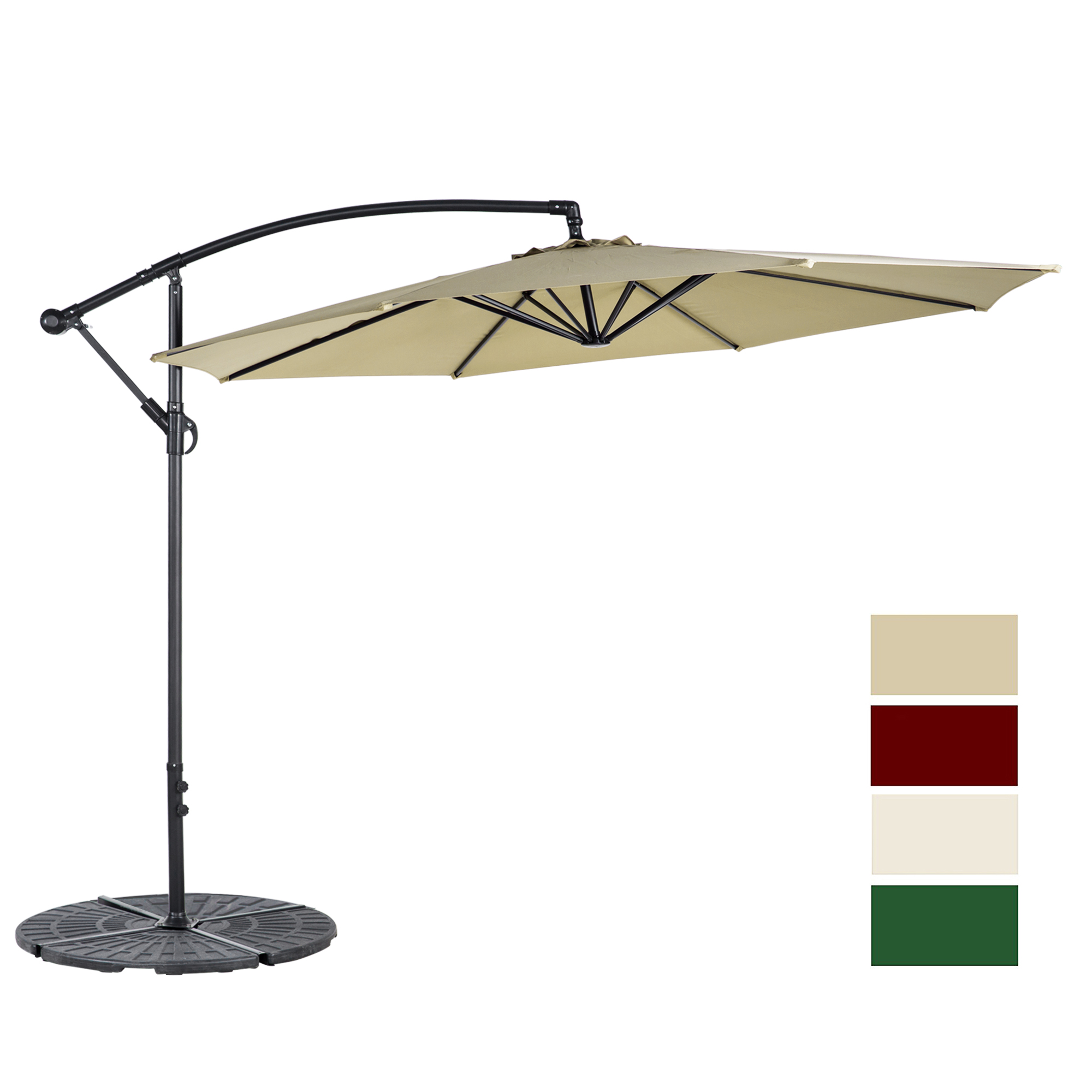 Cloud Mountain 10-ft. Offset Beach Patio Umbrella by Cloud Mountain
