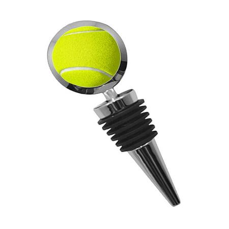 KuzmarK Round Wine Bottle Stopper - Tennis Ball 2 Bottle Stoppers