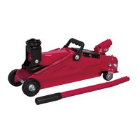 """Hyper Tough 2 Ton Trolley Jack with Compact Design. Min.Height: 5-5/16"""". Max.Height: 13-3/8""""."""