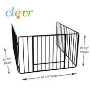 """Clevr 43"""" Fireplace Safety Fence Screen Gate Divider Guard Metal Steel"""
