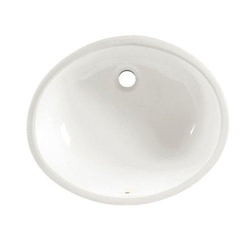 American Standard 0497.300.020 Ovalyn 19-15-3/8 Undermount Sink with Glazed Underside, White