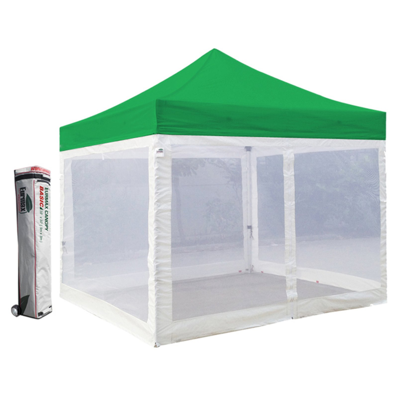 Eurmax Canopy Inc Commercial 10 x 10 ft. Screen Wall Canopy Tent