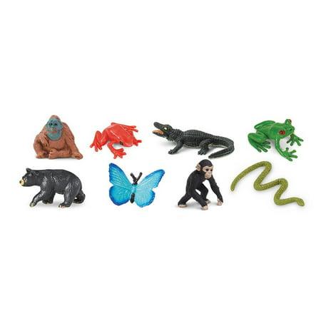 Rainforest Fun Pack Mini Good Luck Figures Safari - Rainforest Toy Animals