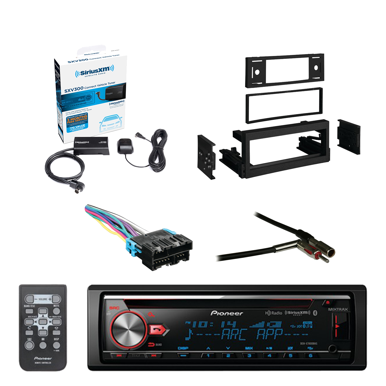 Xm Radio Wiring Harness Adapter Schematic Diagrams Sirius Pioneer Cd Bluetooth Receiver W Enhanced Audio Functions With Product
