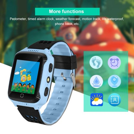 New Children Smart Watch With GPS Camera Cell Phone LBS positioning Bluetooth Recording Alarm Calculator Sleep Reminder Watch, SIM Watch, Cell Phone Watch ()
