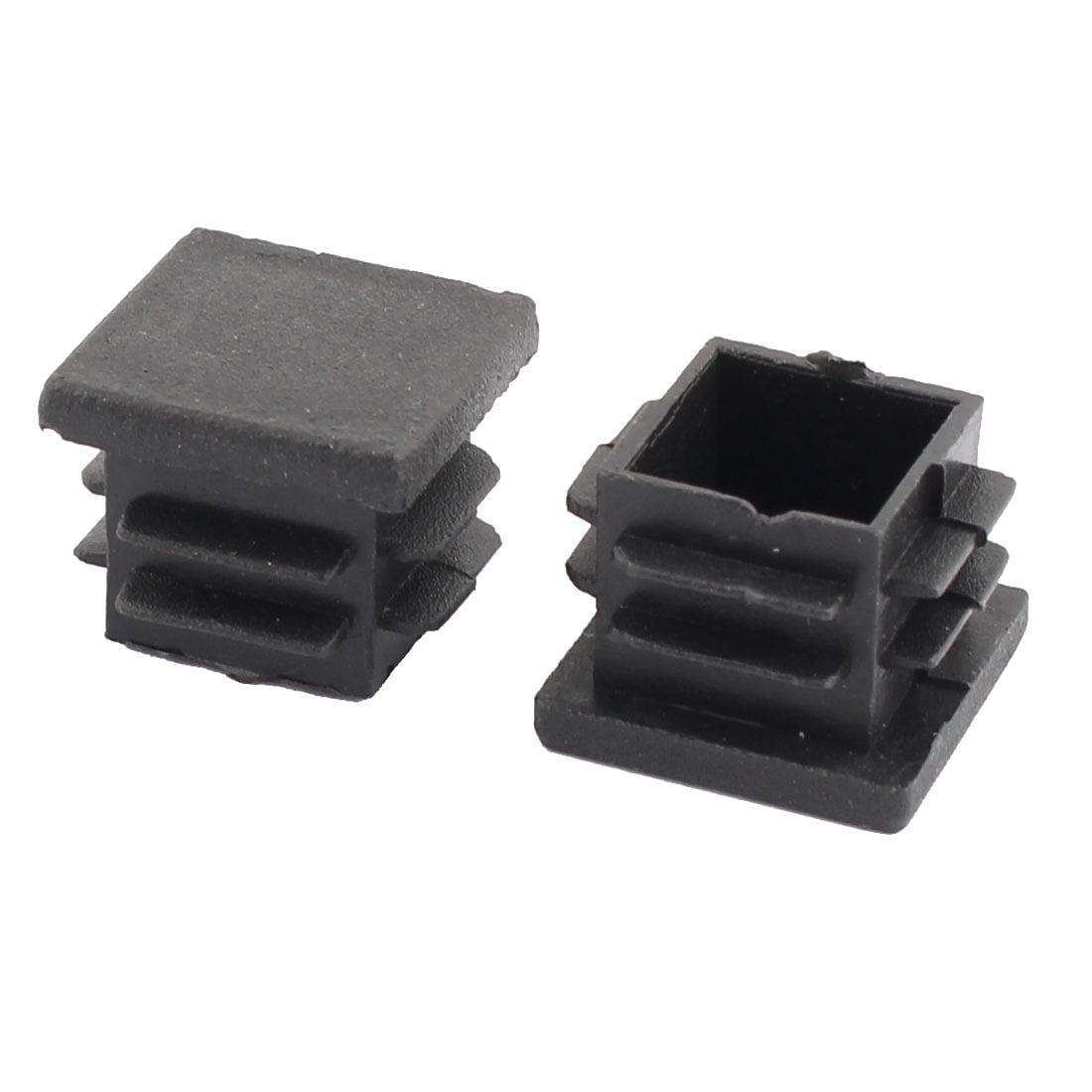 Home Plastic Square Table Cabinet Legs  Tube Insert Black 19 x 19mm 50 Pcs - image 1 of 2