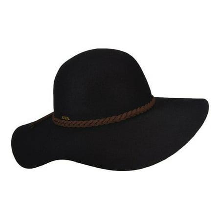 b3aa5ee98ddc0 Scala - Women s Scala LF213 Floppy Sun Hat with Suede Braid - Walmart.com