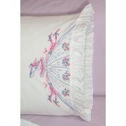 """Fairway Stamped Ruffled Edge Pillowcases 30""""X20"""" 2/Pkg-Southern Belle"""