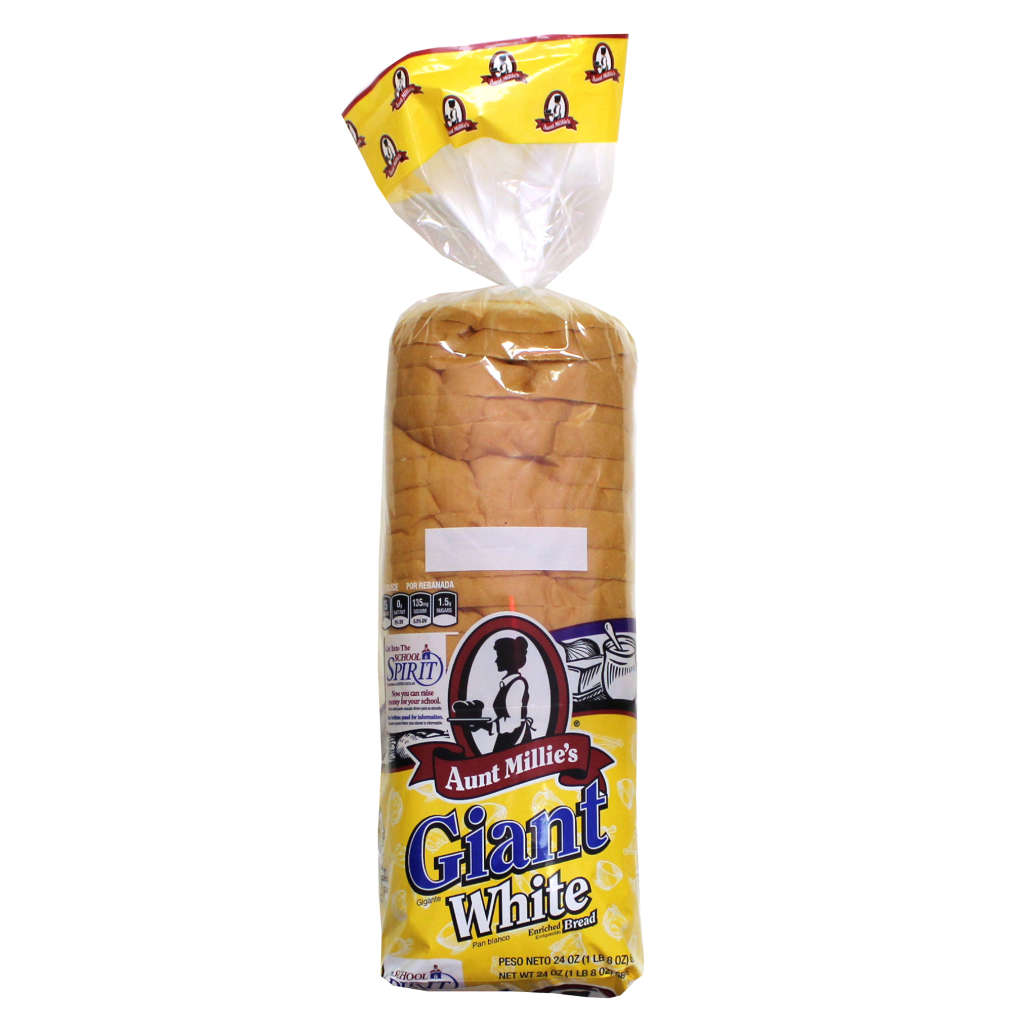 Aunt Millie's Deluxe Giant White Bread, 24 oz.