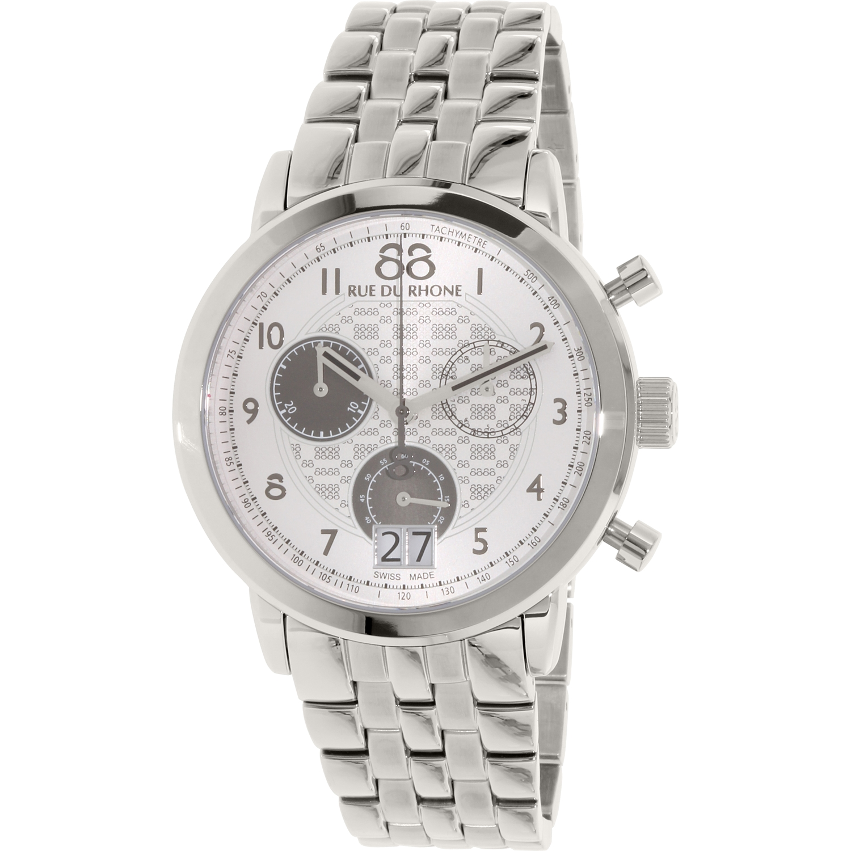 Image of 88 Rue Du Rhone Men's 87WA140032 Silver Stainless-Steel Swiss Quartz Dress Watch