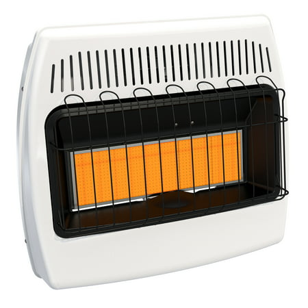 Comfort Infrared Natural Gas Heater - Dyna-Glo 30,000 BTU Natural Gas Infrared Vent Free Wall Heater