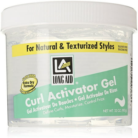 2 Pack - Long Aid Extra Dry Curl Activator Gel 32 oz