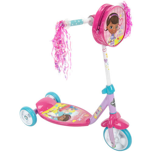 Huffy Girls' Disney Doc McStuffins 3-Wheel Preschool Scooter