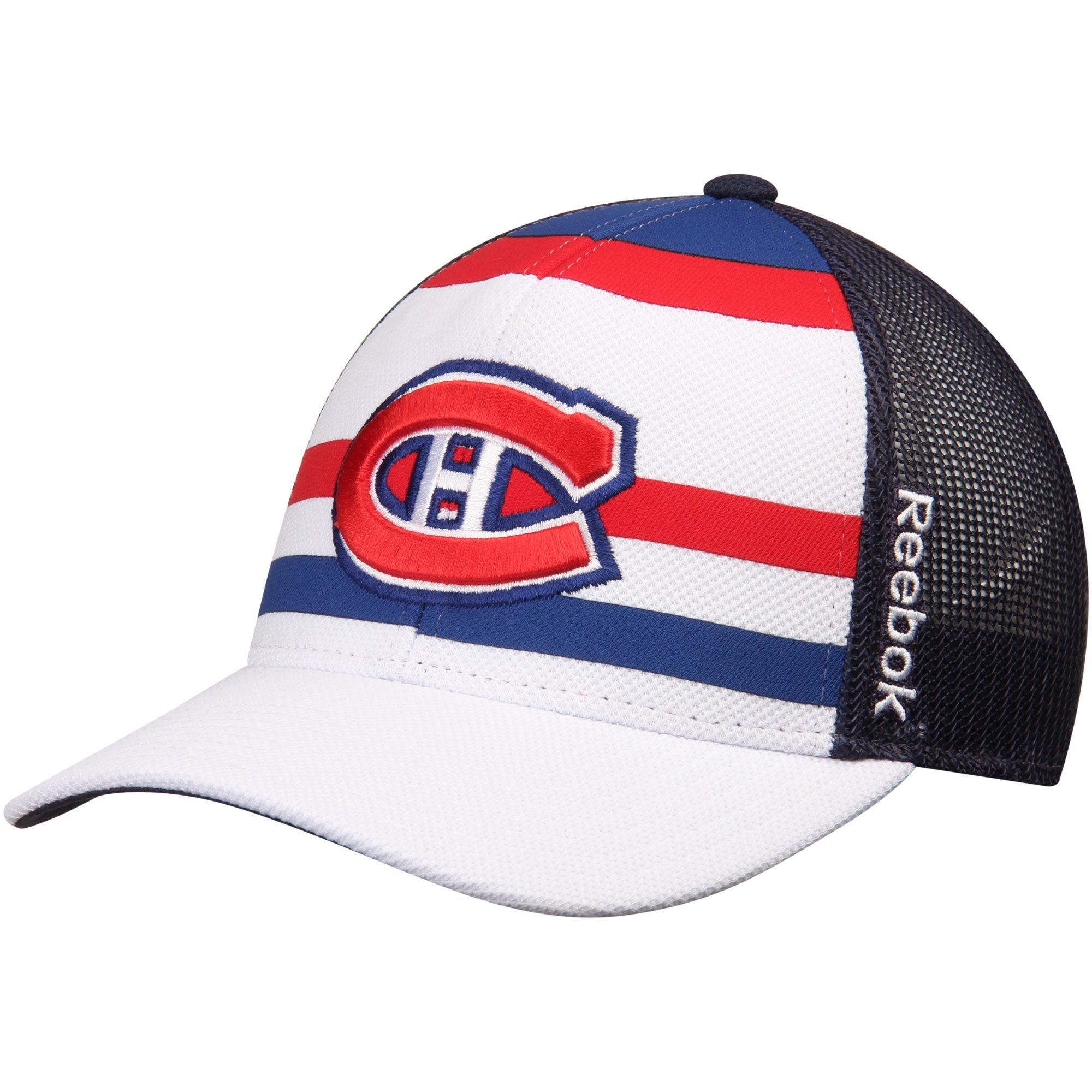 Montreal Canadiens Reebok Face Off Trucker Hat - White/Navy - OSFA