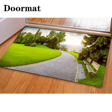 XDDJA Panorama a Beautiful City Park 3 Piece Bathroom Rugs Set Bath Rug Contour Mat and Toilet Lid Cover - image 1 de 2