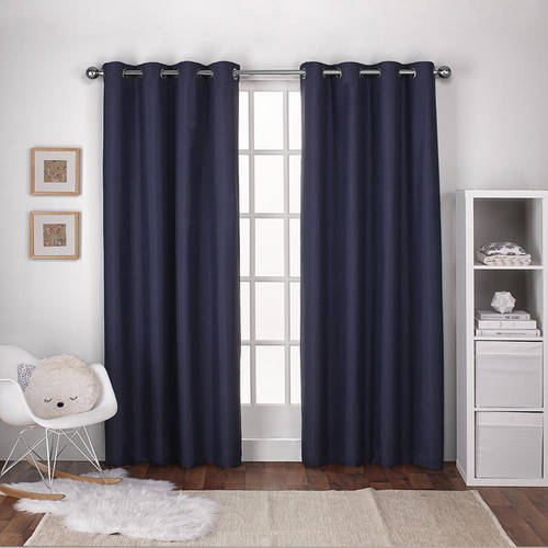 Exclusive Home Curtains 2 Pack Textured Linen Thermal Grommet Top Curtain Panels