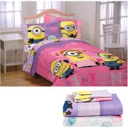 Despicable Me Minions Girl Reversible Bed in a Bag 5 Piece Bedding Set