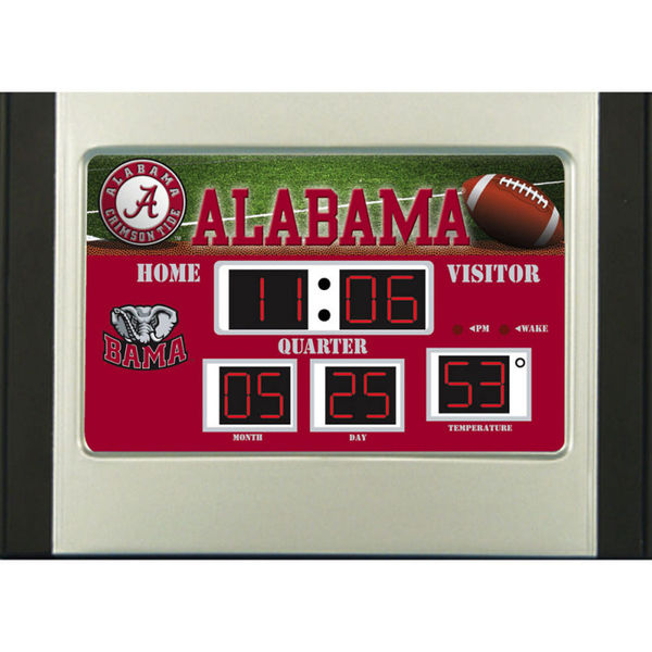 Alabama Crimson Tide Scoreboard Desk & Alarm Clock
