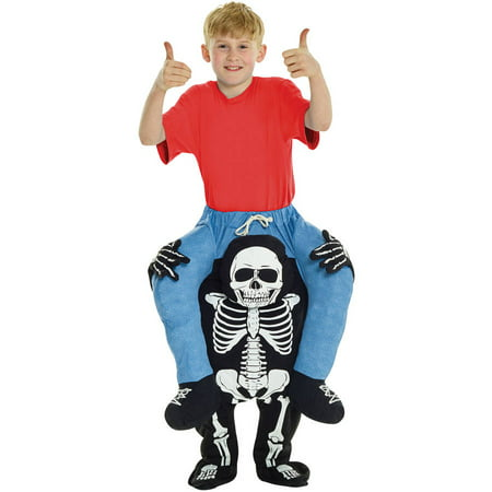 Skeleton Piggyback Boy's Child Halloween Costume, One Size - Skeleton Fancy Dress Costume