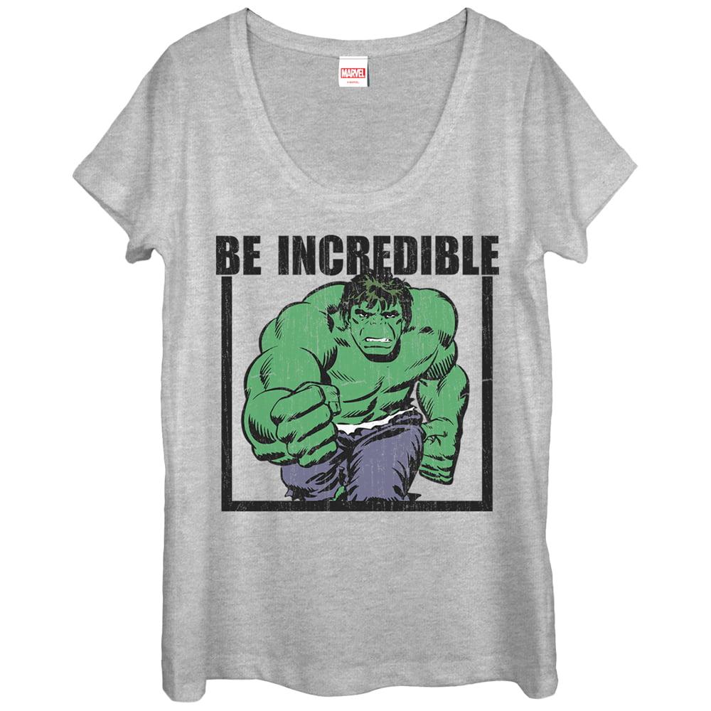 Marvel Women's Hulk Be Incredible Scoop Neck T-Shirt