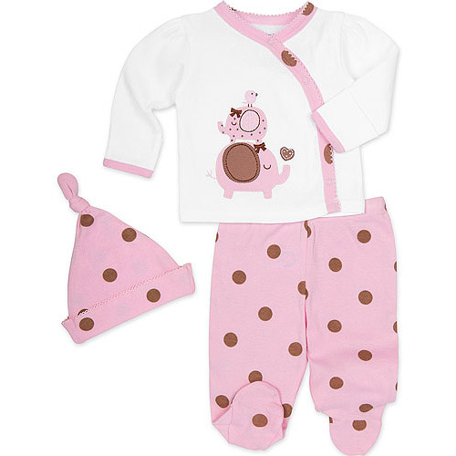 Gerber Newborn Baby Girl Take Me Home Outfit Set 3 Piece