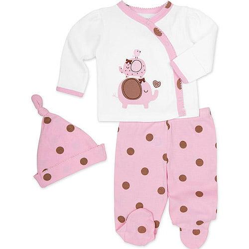 74d7b8089 ONLINE - Gerber Newborn Baby Girl Take-me-home 3 - Walmart.com