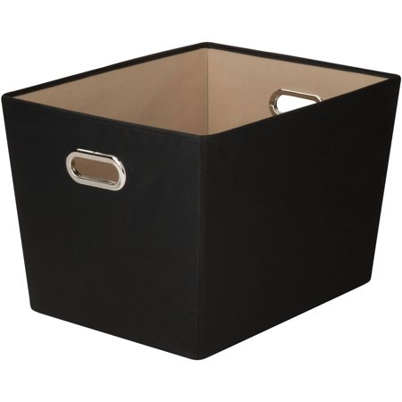 Honey Can Do Large Decorative Storage Bin with Handles, Multicolor](Decorative Storage Containers)