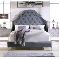 Chic Home Constantine Bed Frame Headboard Velvet Upholstered