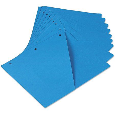 Universal Slash Cut Pockets ((2 Pack) Universal Slash-Cut Pockets for Three-Ring Binders, Jacket, Letter, 11 Pt., Blue, 10/Pack)