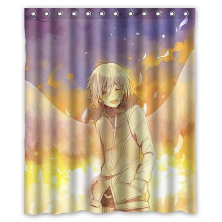 DEYOU Anime Boy Shower Curtain Polyester Fabric Bathroom Size 60x72 Inches