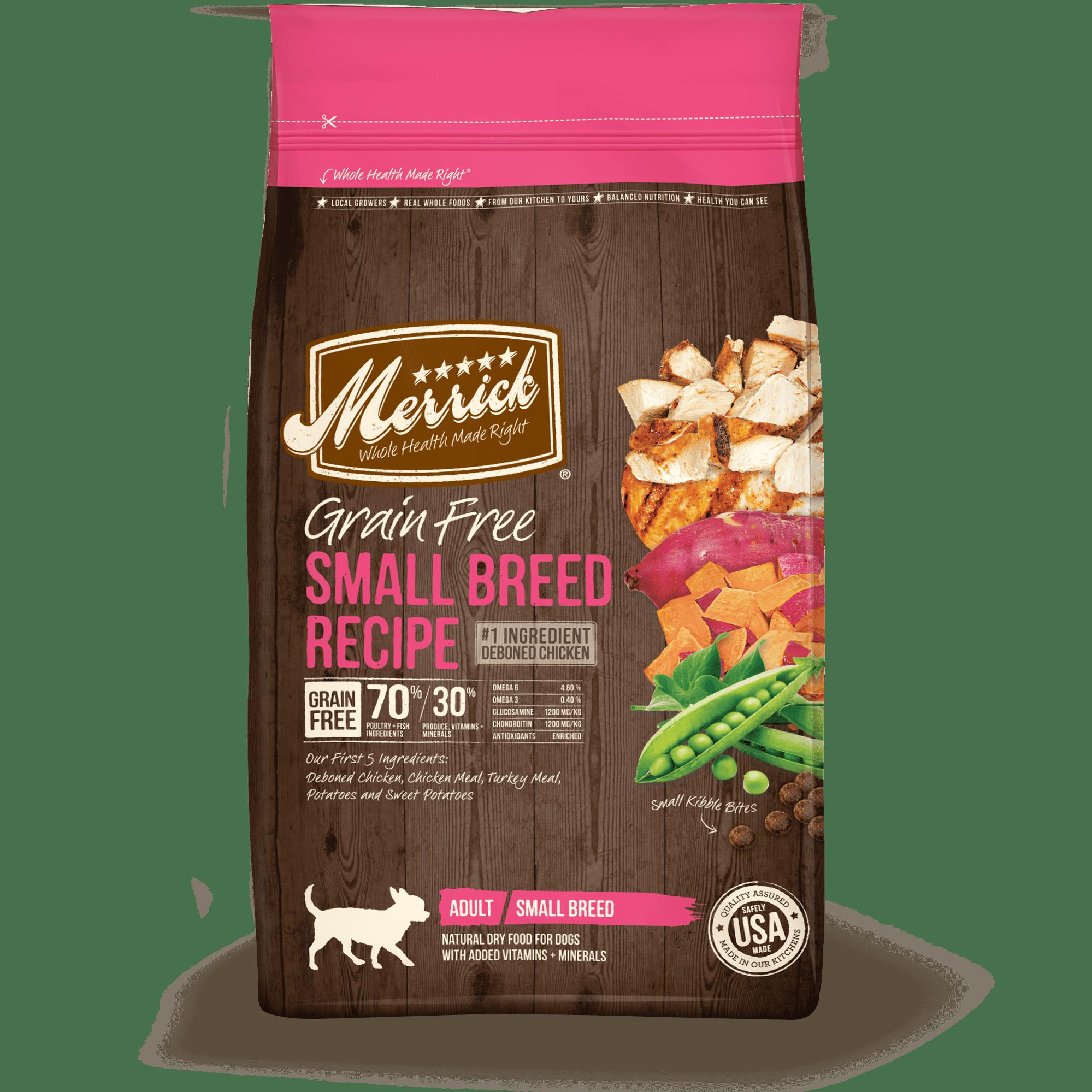 Merrick Lil' Plates Grain-Free Real Chicken + Sweet Potato Recipe Small Breed Dry Dog Food, 4 lb