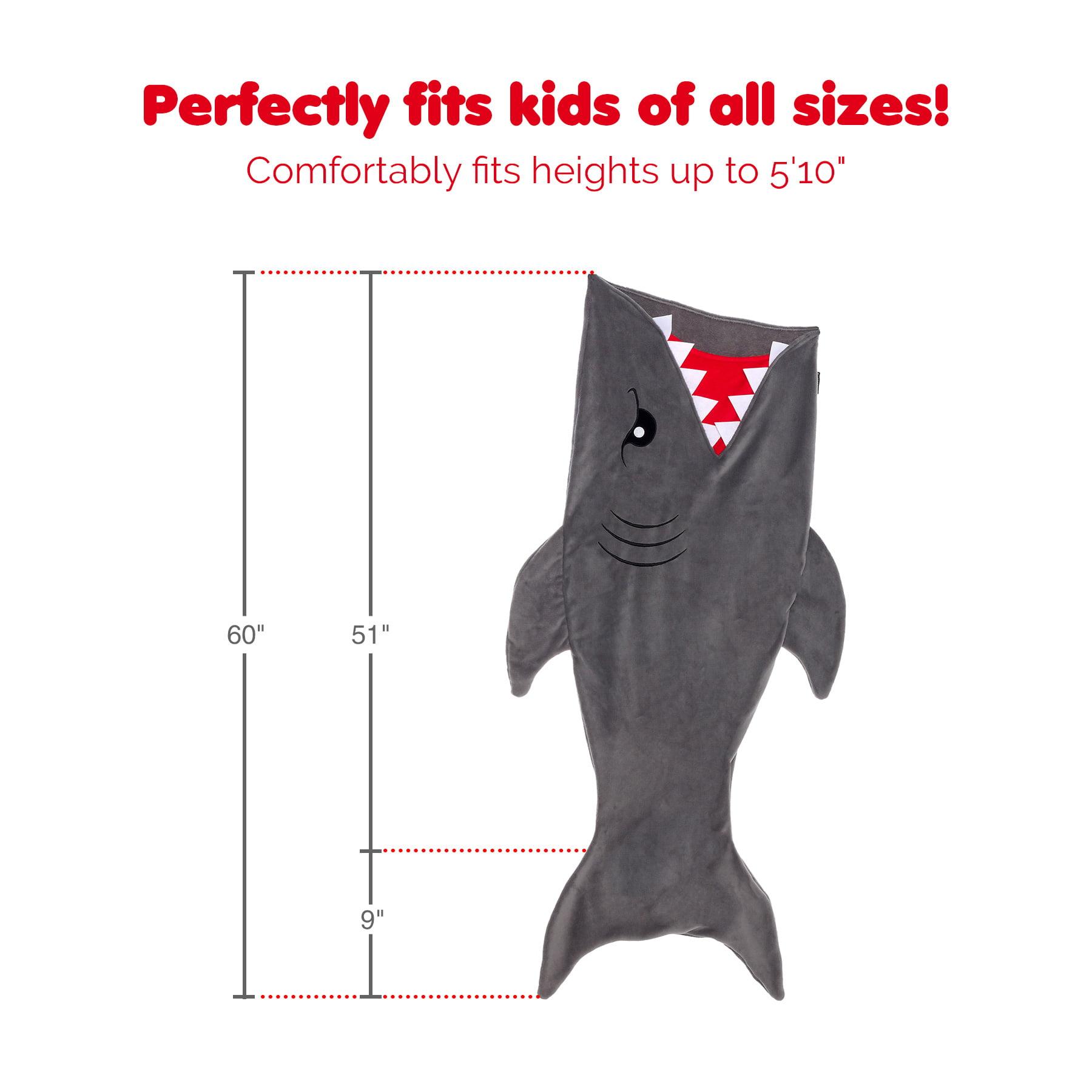 timeless design 9ac18 216d0 Silver Lilly Gray Shark Tail Plush Animal Sleeping Bag Novelty Blanket for  Kids