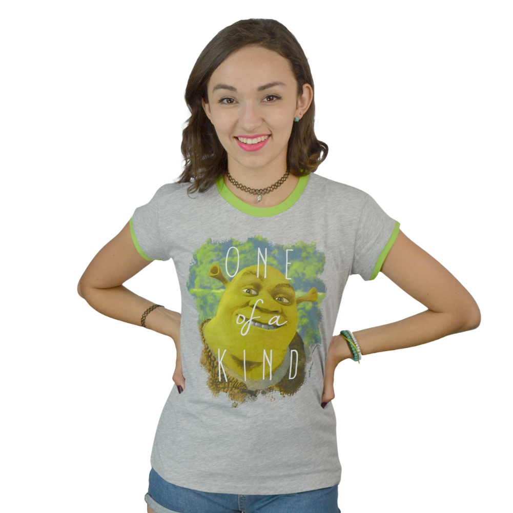 "Shrek ""One Of A Kind"" Women's Grey T-shirt NEW Sizes M-L"